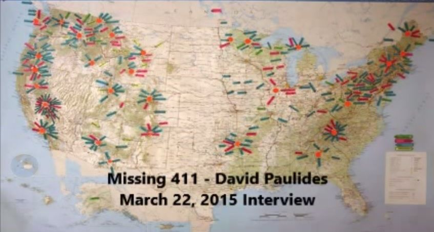 Details about MISSING 411: North America Cluster Map {{ FROM ...