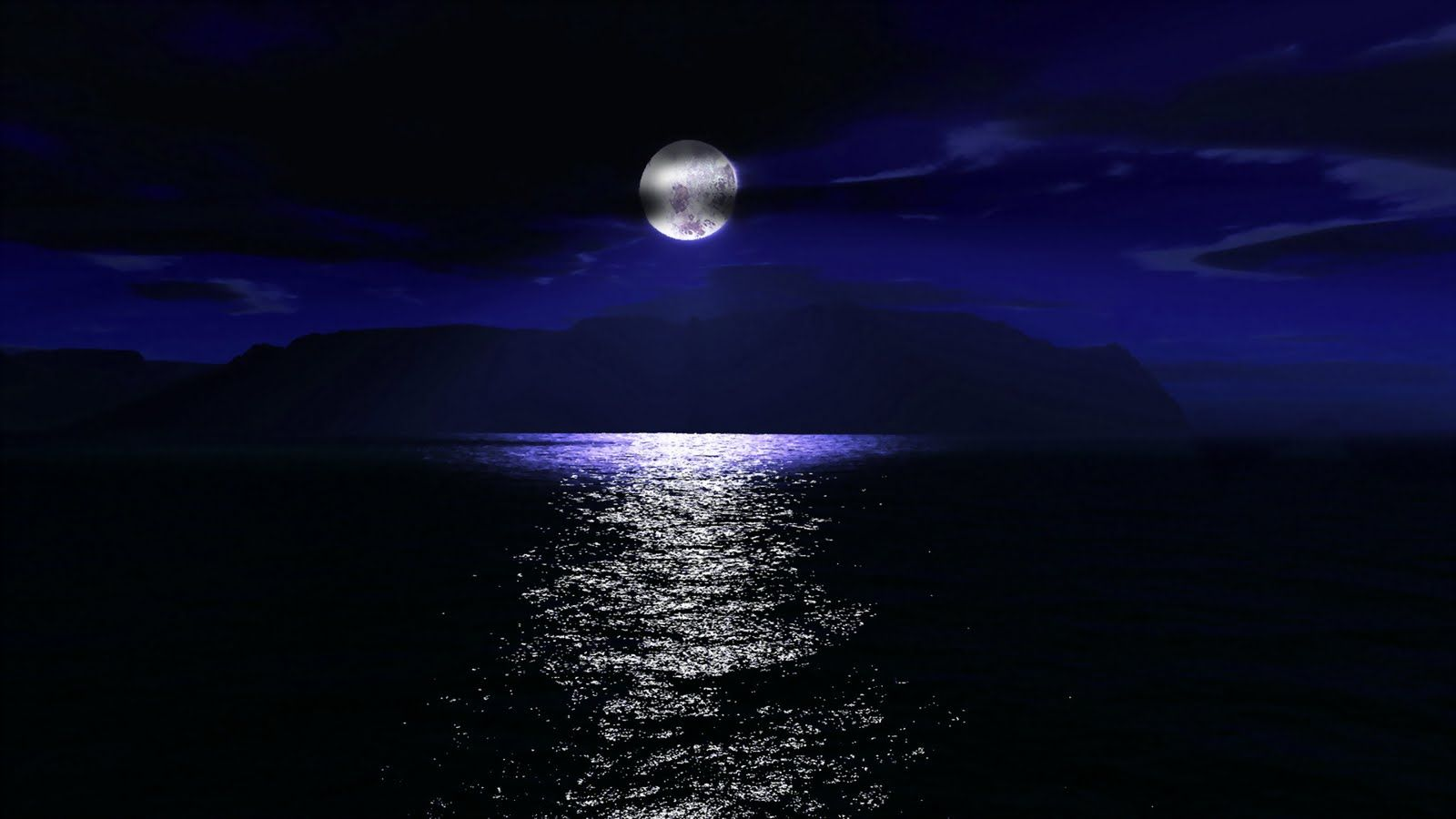 Sea Moon At Mid Night Wallpapers Hd Wallpapers Best Nature Wallpapers Moon Hd Backgrounds