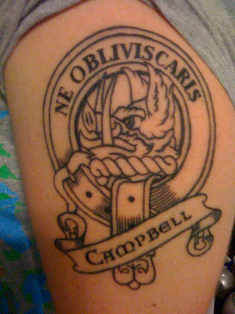 Clan Campbell Family Crest Tattoo Tempted To Get This Motto Too