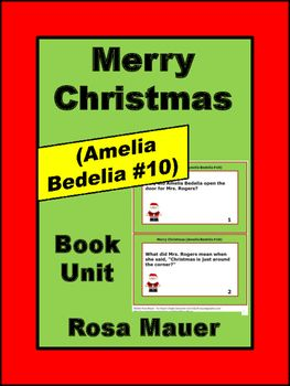 Merry Christmas (Amelia Bedelia #10) Book Unit | Book Studies for ...