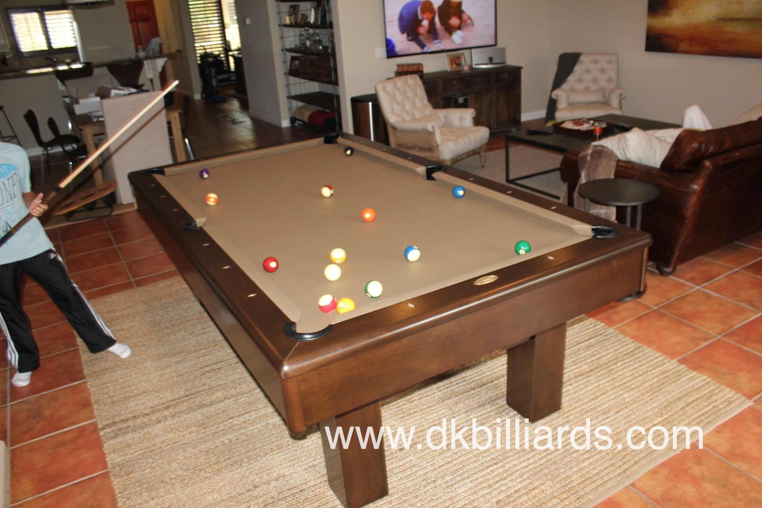 Contemporary Pool Table Spotlight Del Mar  Living Room Design Captivating Pool Table Living Room Design Review