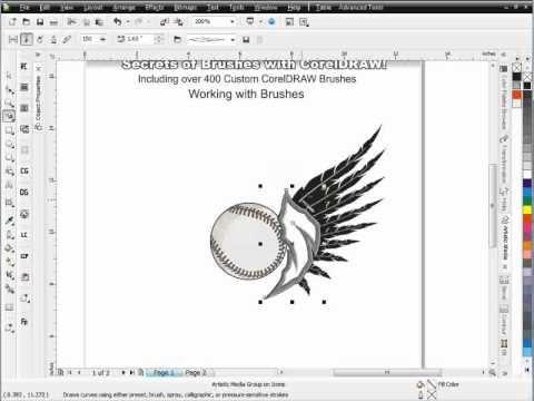Secrets Of Brushes Corel Draw Tutoriald Session 7 Web Graphic Design Corel Draw Tutorial Graphic Design Tips