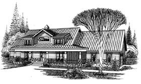 Elevation of Ranch   House Plan 60287