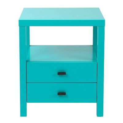 Westwood Acacia Accent Table Turquoise East At Main In 2021 2 Drawer Nightstand Contemporary End Tables Blue Nightstands