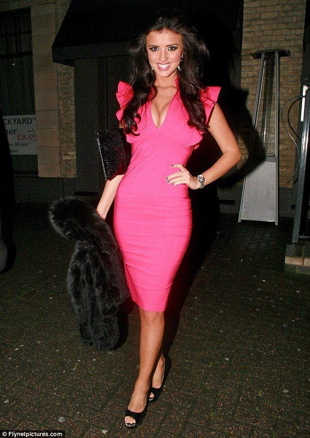 Well, that\'s one way to get viewers! Lucy Mecklenburgh spills out of ...