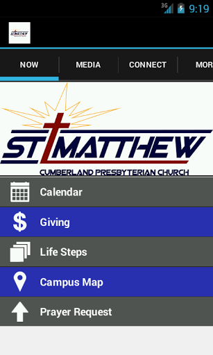 The St. Matthew Cumberland Presbyterian Church app is dedicated to getting information about ourselves to our congregation and those wishing to join in the hands of the Lord. Learn more about our church, our events, small groups, and also including our giving website, prayer requests, and even social media tabs to keep in touch.  http://Mobogenie.com