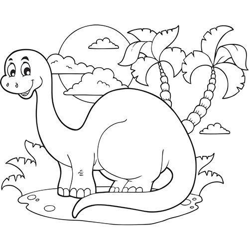 Le Dinosaure En Coloriage A Imprimer Coloriage Dinosaure Coloriage Dinosaure A Imprimer Coloriage