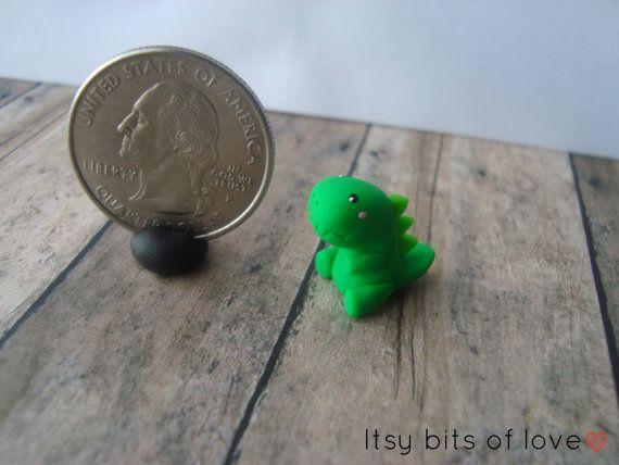 Tiny Trex  Mini Dinos by itsybitsoflove on Etsy