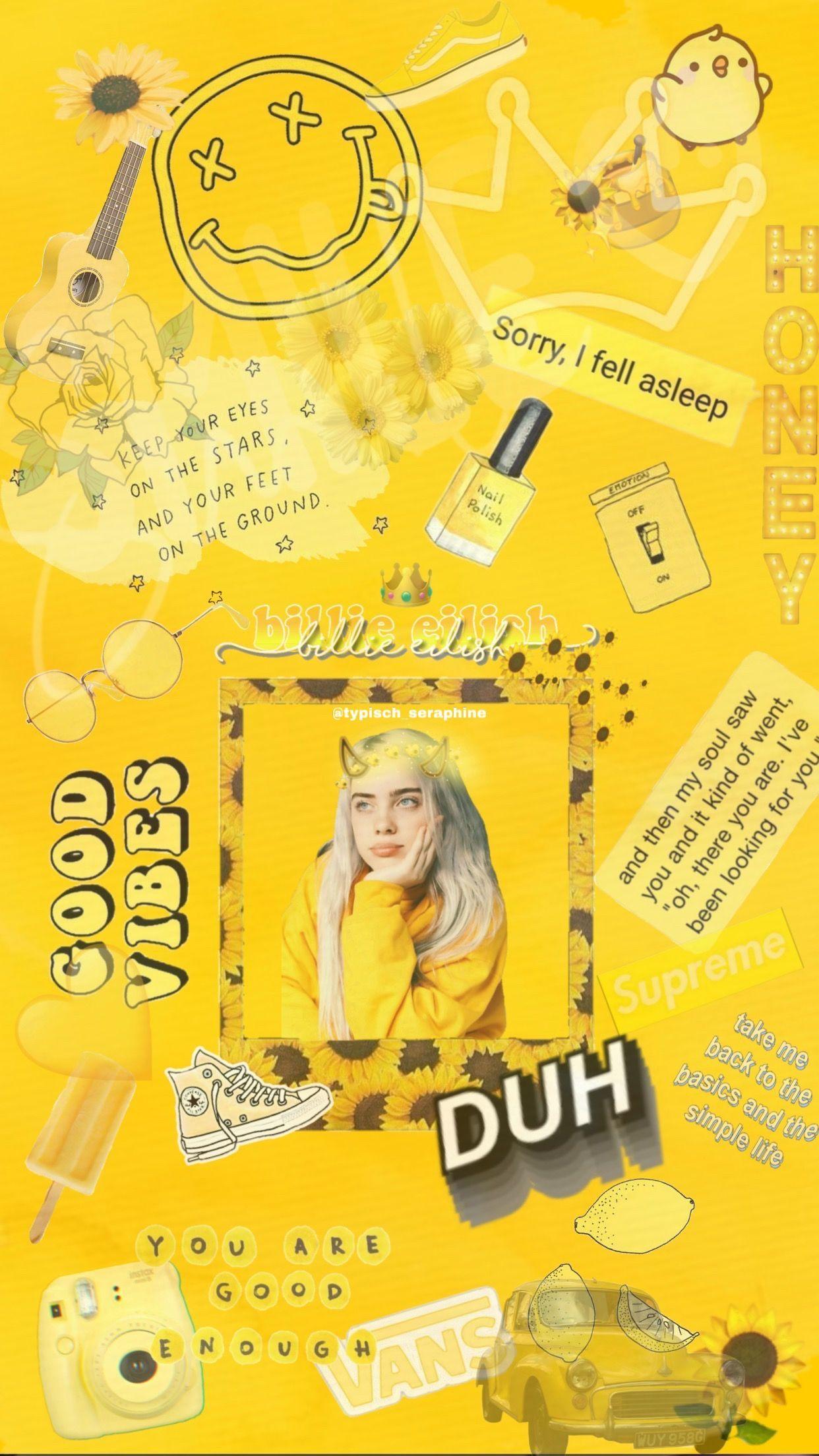 iPhone Xr Wallpaper yellow aesthetic billie eilish ️ in