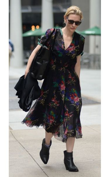 Cate Blanchett WHAT:  Acne Studios shoes WHERE:  On the street, New York City