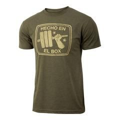 Men's crossfit gift idea Spanish regalo -Hecho en el Box - Military Green - Men's Triblend T-shirt