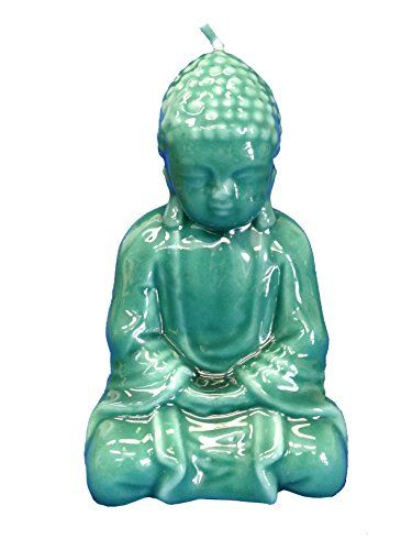 Biedermann & Sons Jade Buddha Candle, Green. Jade Green Buddha shaped candle. 3 x 5.5-Inches. Add a touch of Zen to your home decor. Burns approximately 12 hours. Biedermann and Sons have specialized in unique candles and decorative accessories since 1956.