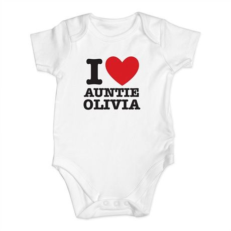 I heart personalised baby vest baby gift ideas pinterest baby i heart personalised baby vest negle Images