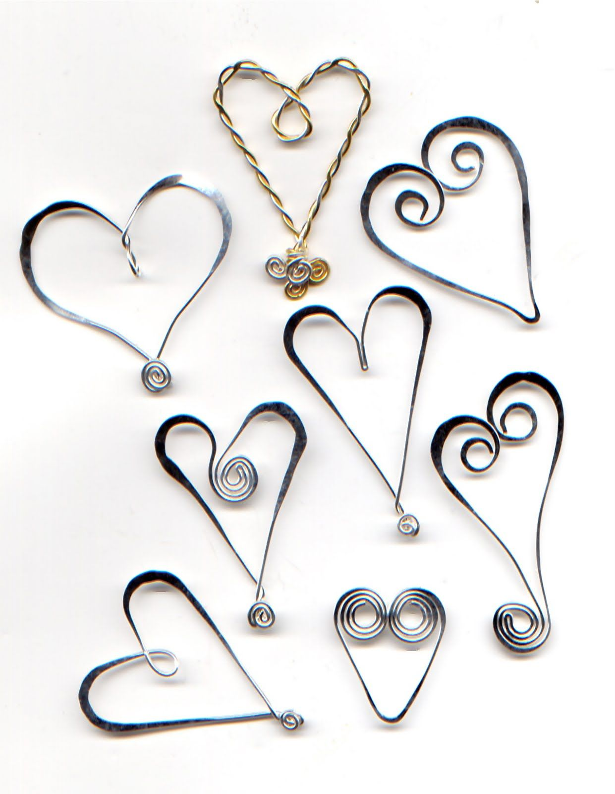 Tutorial from WireWorkers Guild - wire hearts and pendants is ...