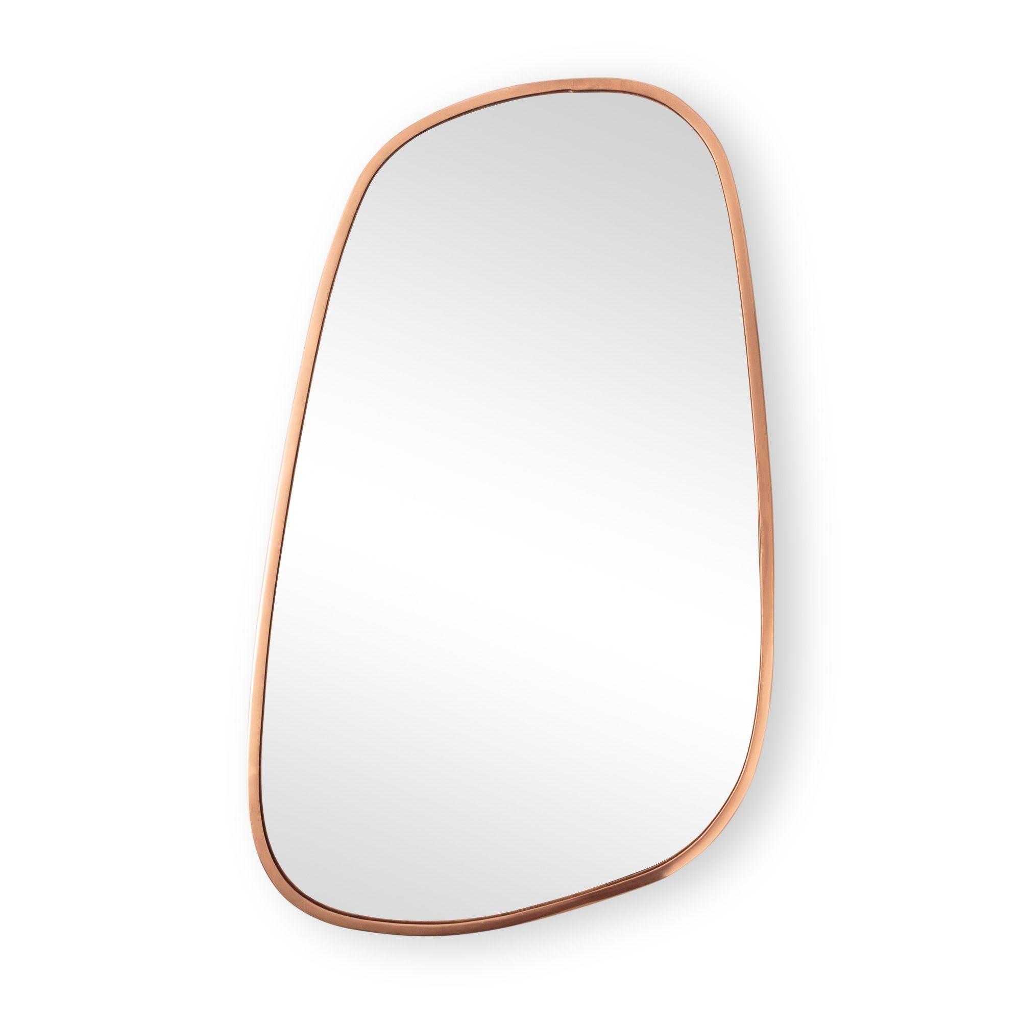 Large Round Framed Mirror
