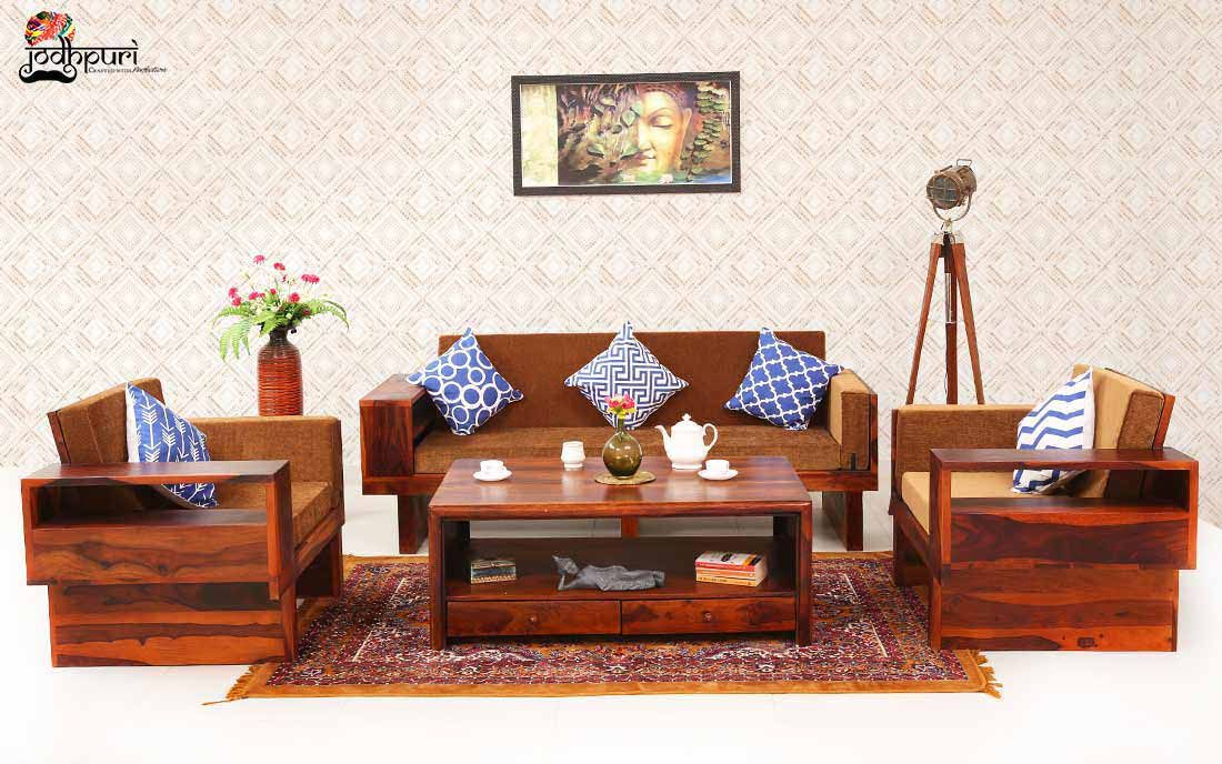 Looking For Ruby Sofa Set In Bangalore Buy From Jodhpuri Furniture Shop They Uses Sheesham Wood To Furnish Their Product In 2020 Wooden Sofa Set Sofa Set Wood Sofa