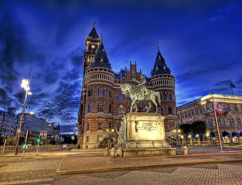 Ridecolorfully Around The Beautiful Town Of Helsingborg Sweden Places Pinterest