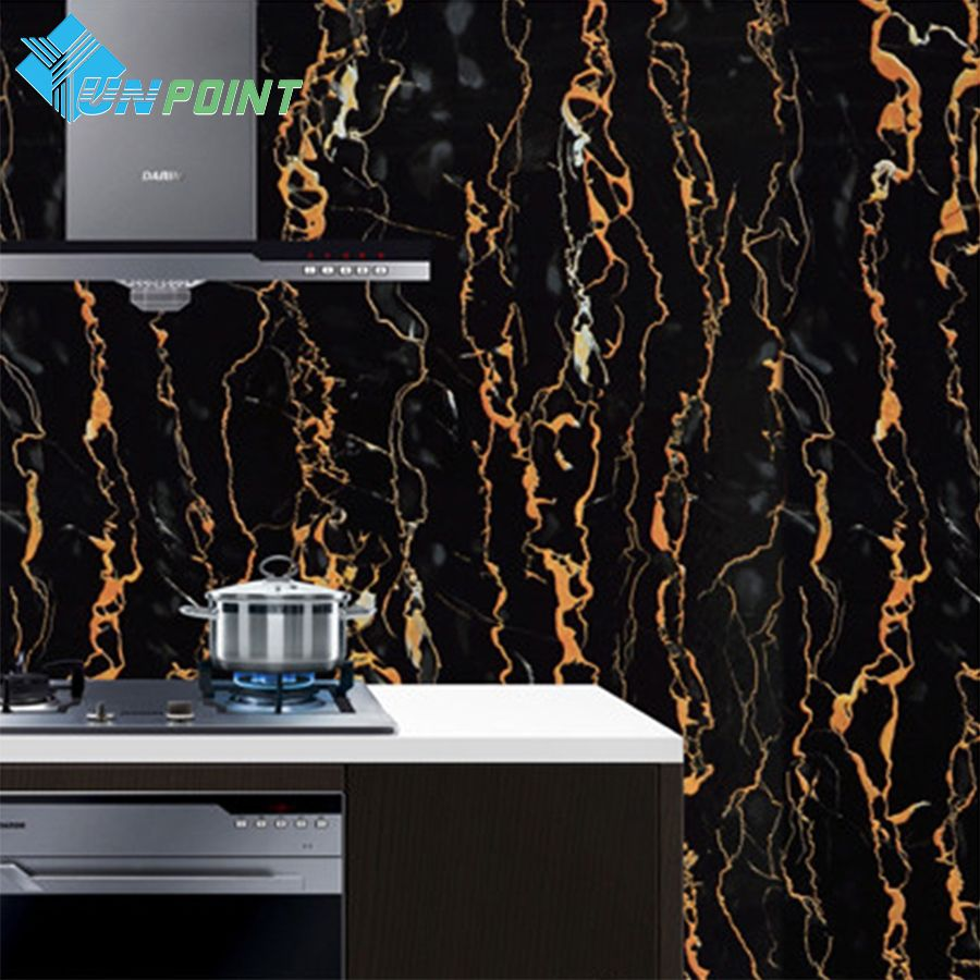 60cmx5m Black Marble Wallpaper Vinyl Pvc Self Adhesive Wallpapers