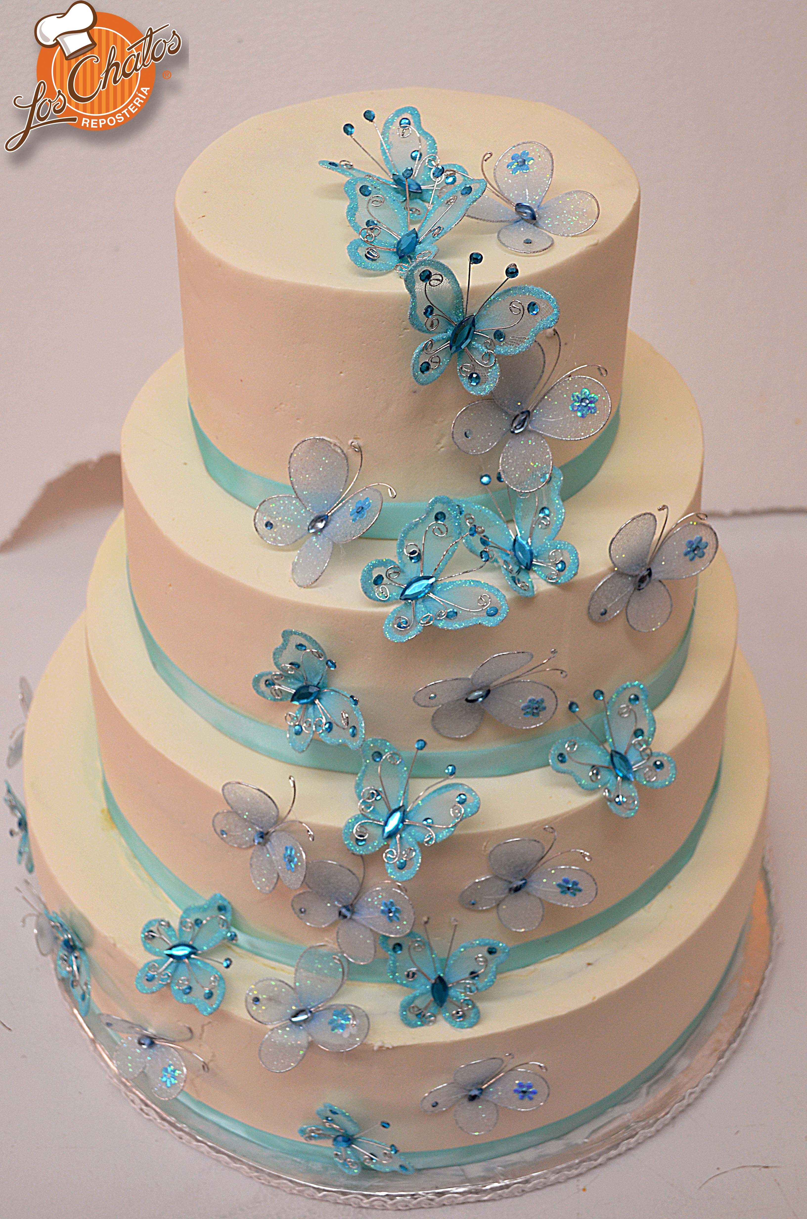 pastel de mariposa