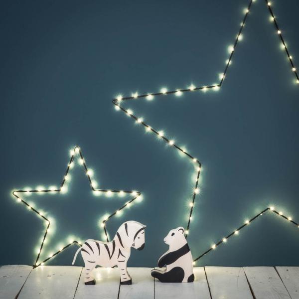 Petite étoile lumineuse noire  leds mixte Pinterest