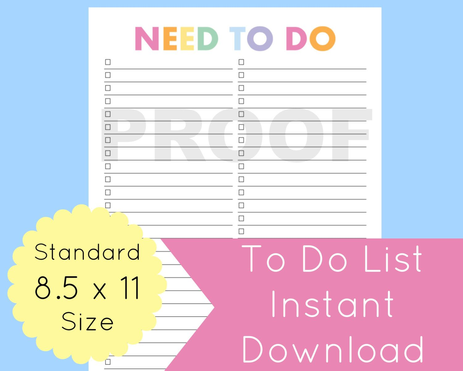 New to CommandCenter on Etsy: To Do List Printable To Do List Planner Printable To Do List Printable Planner Pages Daily To Do List 8.5 x 11 Planner Planner Pages (1.99 USD)