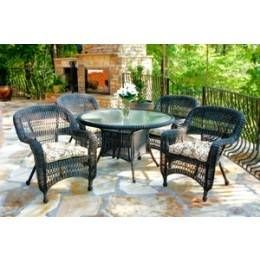 Tortuga Outdoor Portside Coastal White 5 Piece Dining Set Home Furniture And Patio
