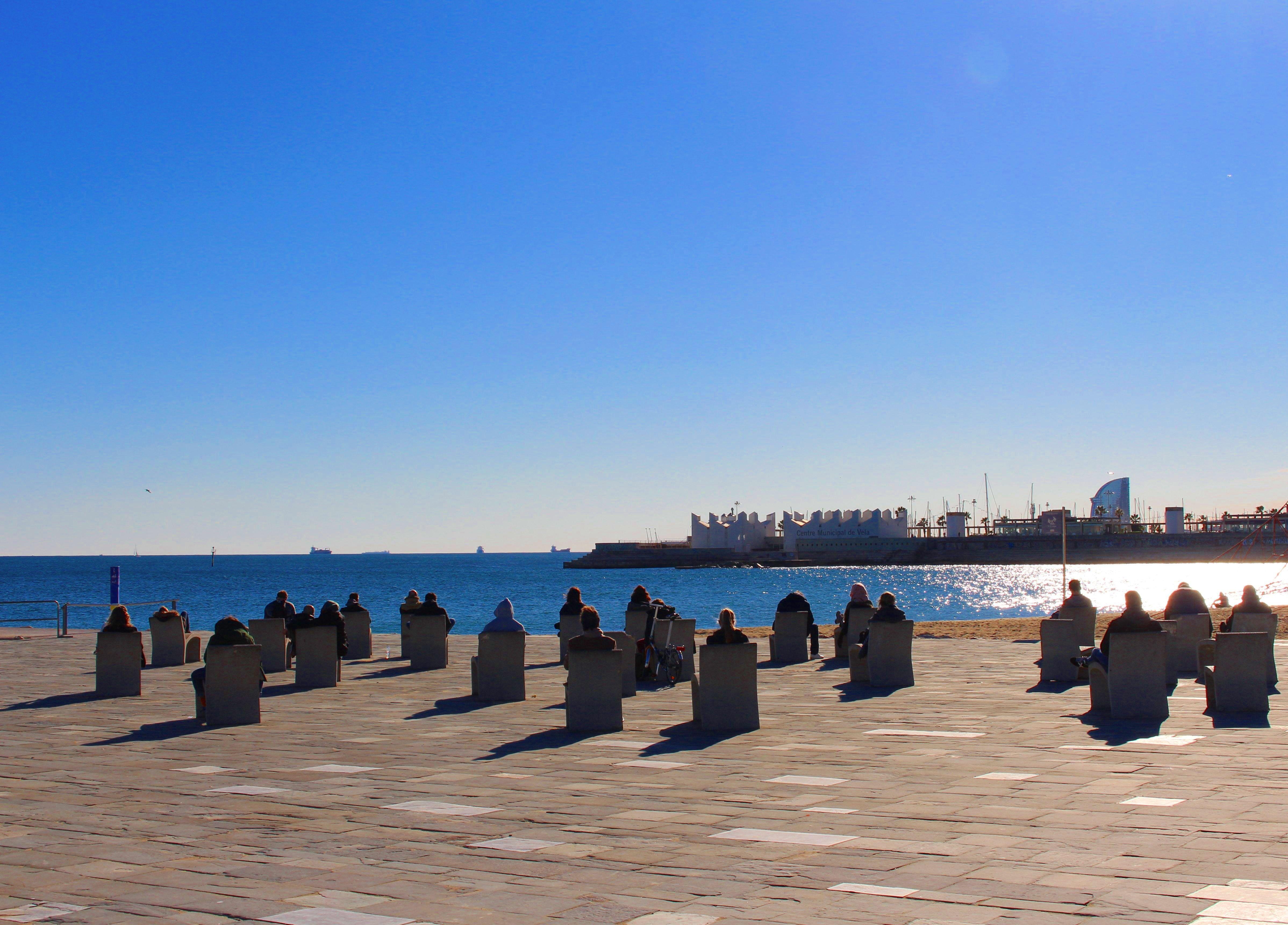 Enjoying The Winter Sun In Barcelona