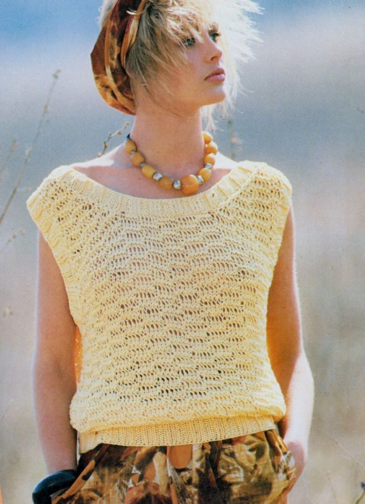 Instant PDF Digital Download Ladies Quick Lacy Sleeveless Sweater ...