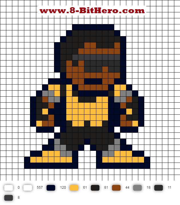 power man updated perler bead pattern marvel 8 bit