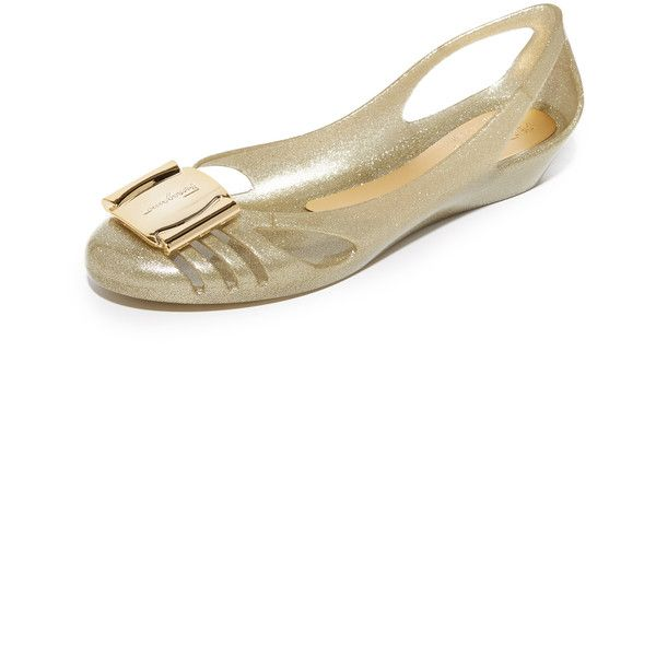 c55844c385b4 Salvatore Ferragamo Bermuda Jelly Flats ( 205) ❤ liked on Polyvore  featuring shoes