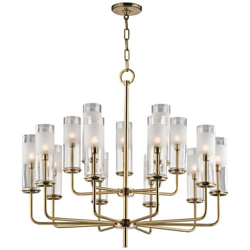 Hudson valley wentworth 31 wide aged brass chandelier lamps plus open box outlet site