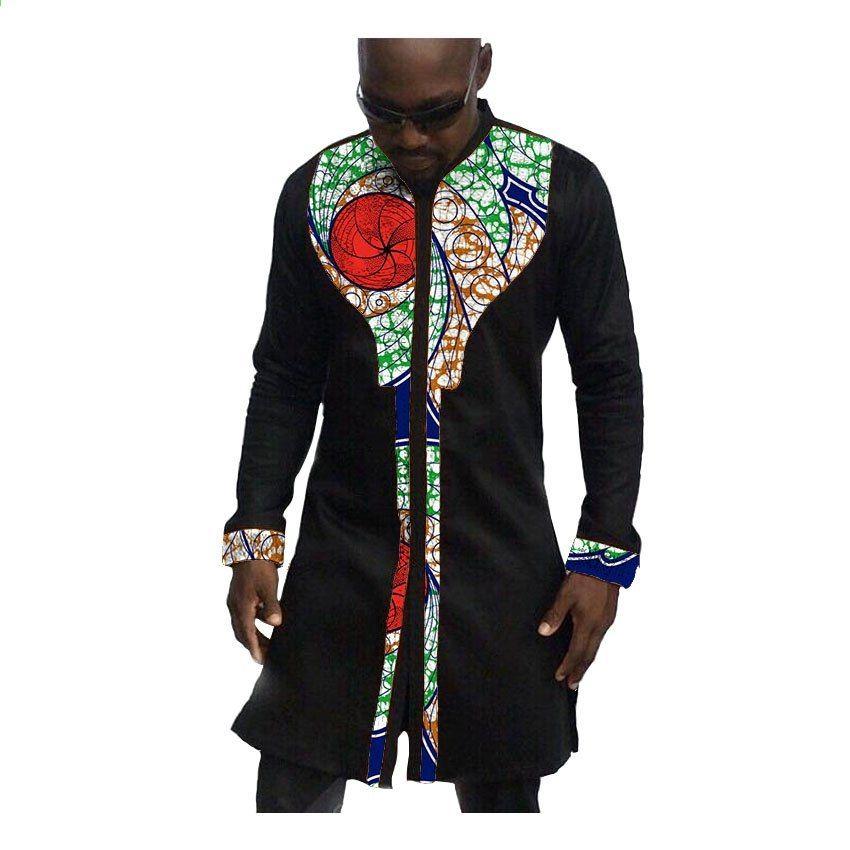Africké pánské topy vyrobené na míru pro muže africké oblečení módní košile  pro mužské africké oblečení s krátkým rukávem 223d9bc7b0