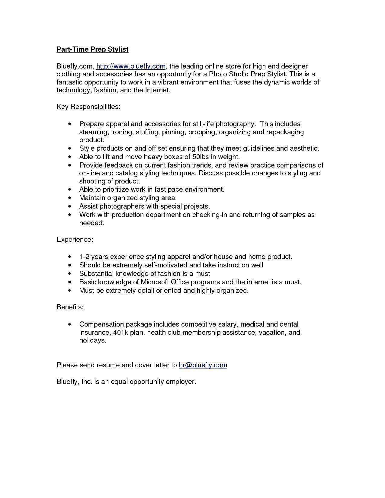 resume for fashion stylist photo fashion stylist resume images