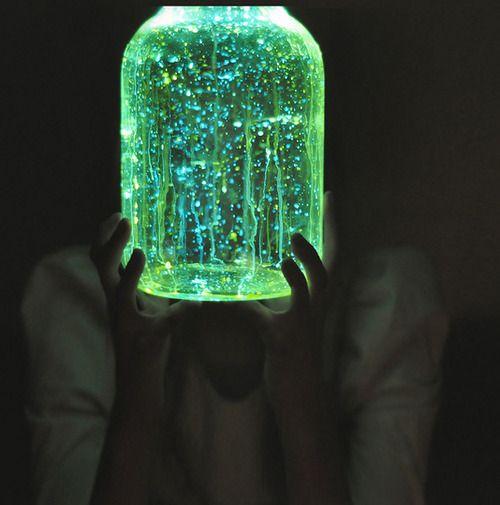 Diy Fairy Jars Any Glass Jar Glow In The Dark Paint Use Chop