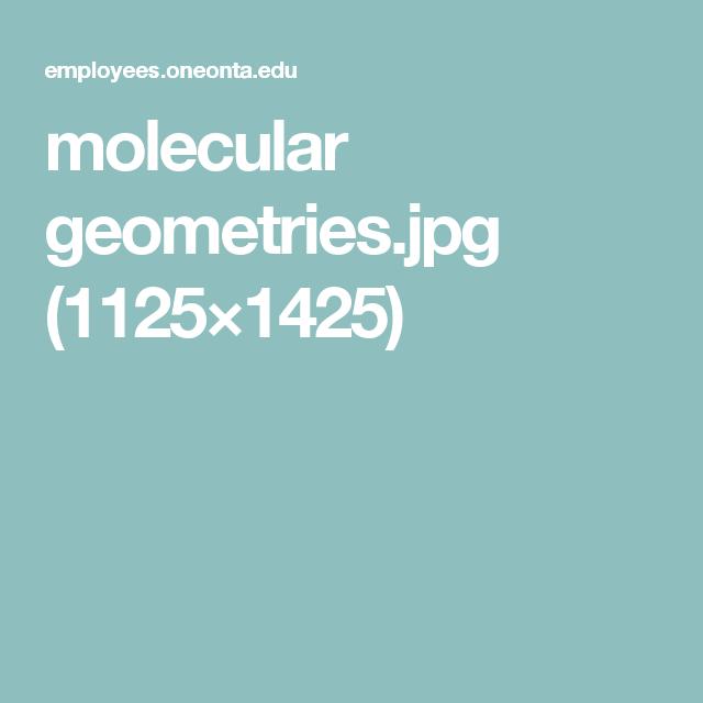 Molecular GeometriesJpg   Chemistry Basics