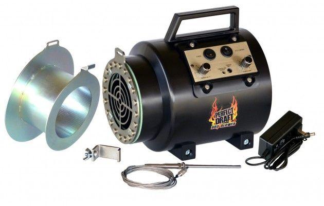 perfect draft bbq blower fan adapter set for offset smoker pits