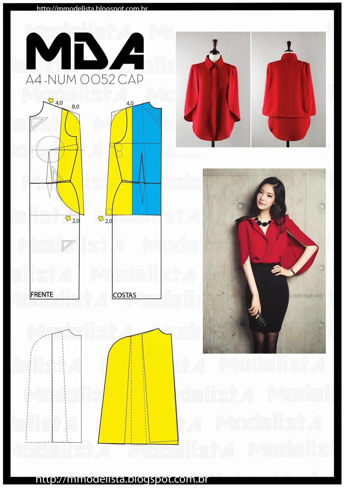 A4 NUM 0052 CAP | Ceket-mont | Pinterest | Sewing, Sewing patterns ...
