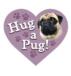 Hug A Pug Fridge Magnet At Www Ilovepugs Co Uk Post Worldwide