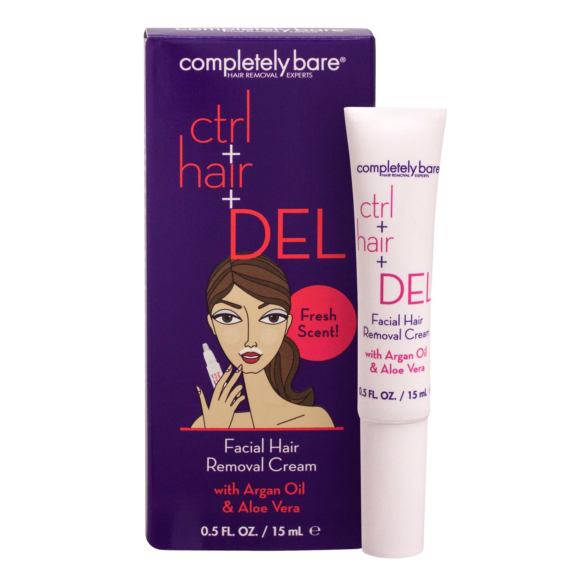 Completely Bare Facial Hair Removal Cream 0.5 oz, Women