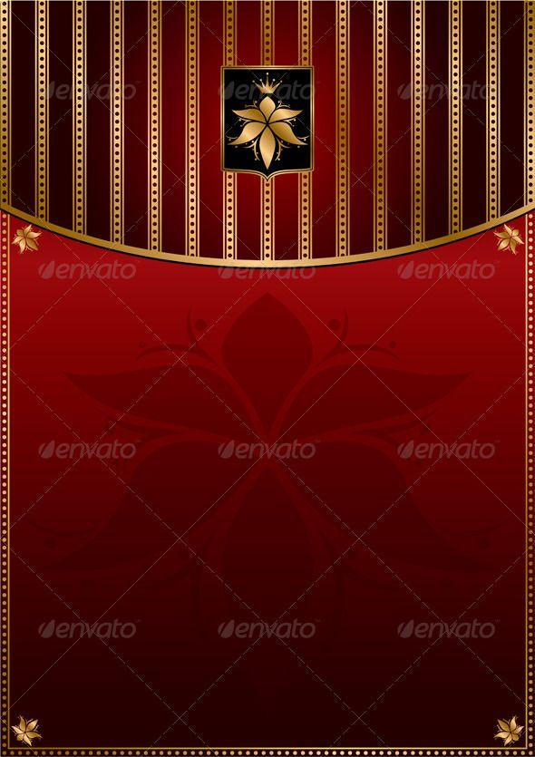 Dark Red Gold Vintage Background Background Vintage Red Gold Dark Red