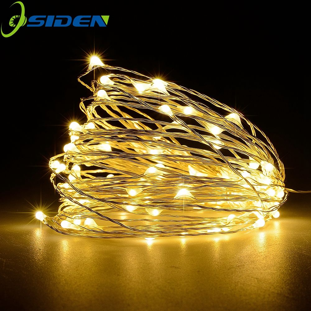 osiden led garland christmas indoor string lights 10m 33ft 100leds copper wire fairy lights home decoration