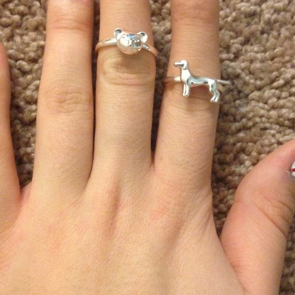 Set of two rings Dog rings. Never worn Claire's Jewelry Rings