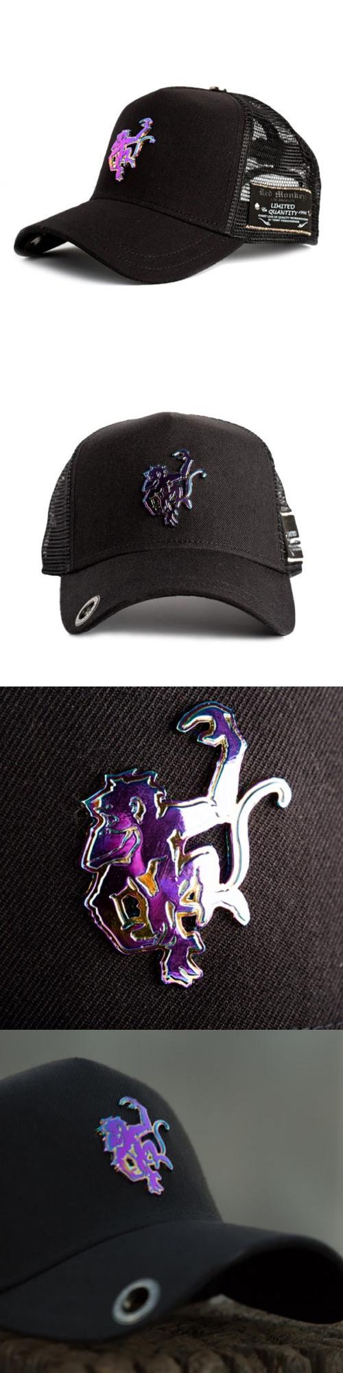 75d93ae866f Hats red monkey neo logo trucker cap hat black buy it now only on ebay jpg