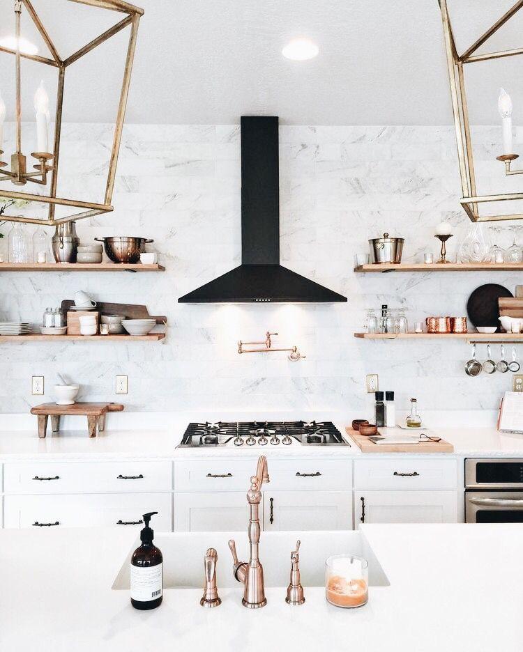 Pinterest Chandlerjocleve Instagram Chandlercleveland Rose Gold Kitchen House Interior White Kitchen Design