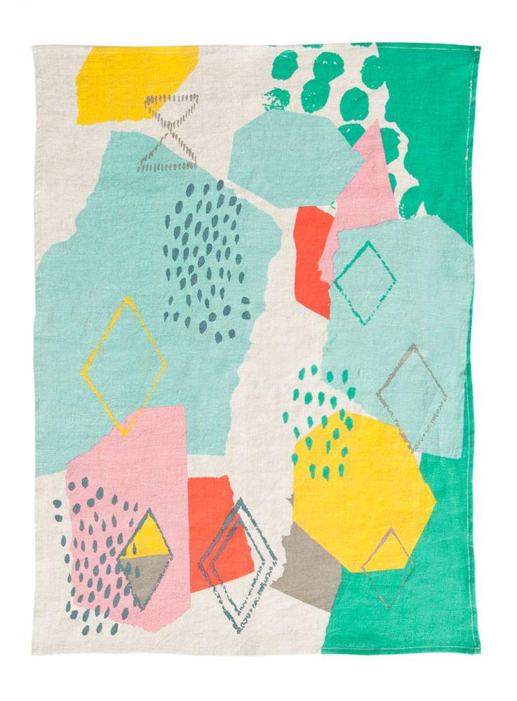 Beneath the Sun Teatowel. artwork by Leah Bartholomew for Gorman.