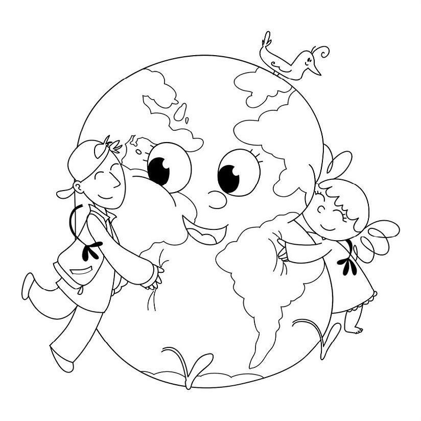 Pla Coloring Pages Tell Karma Earth Day Rhpinterest: Planet Earth Coloring Pages For Preschoolers At Baymontmadison.com