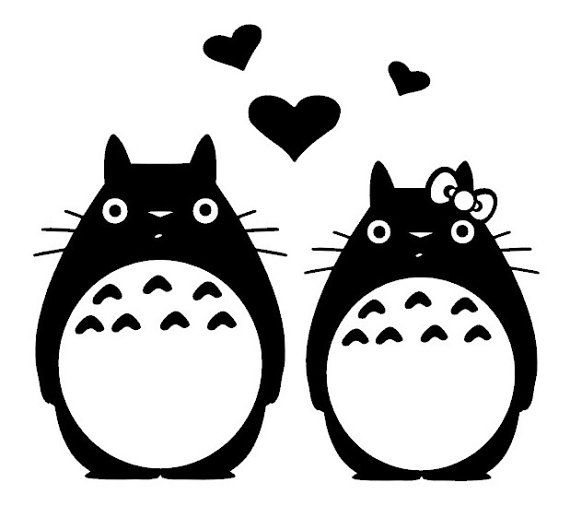 c8744955c Totoro Couple Family Anime Vinyl Decal by 2Geeks1Cat on Etsy, $9.00 ...