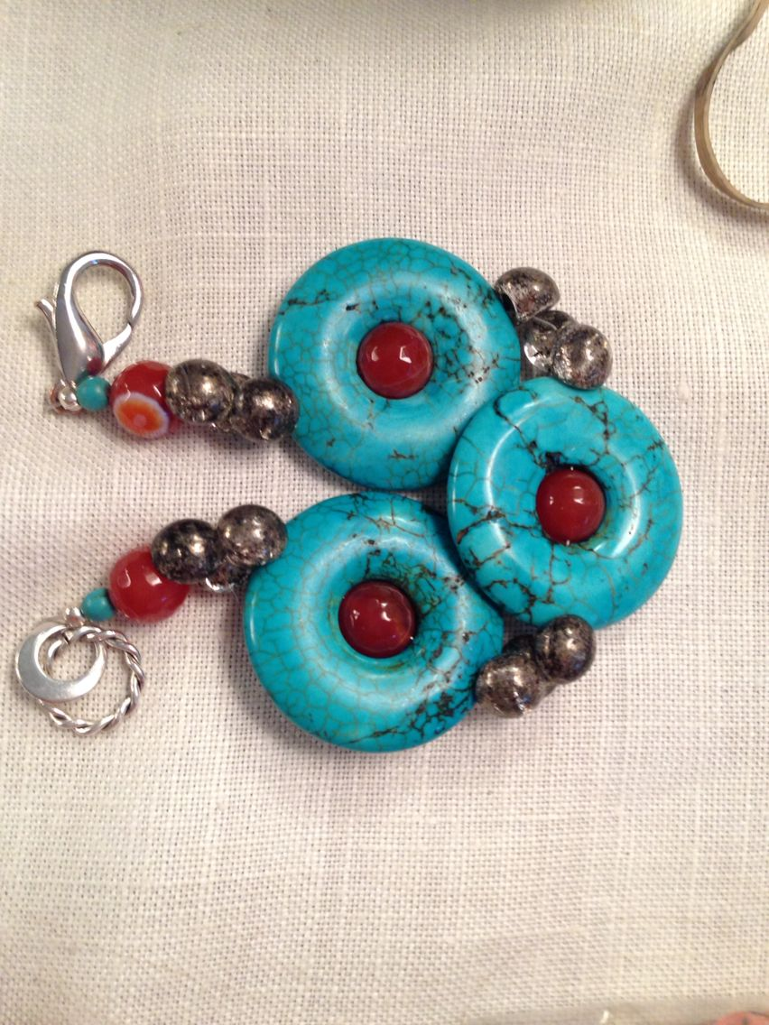 Turquoise, agate and silver bracelet