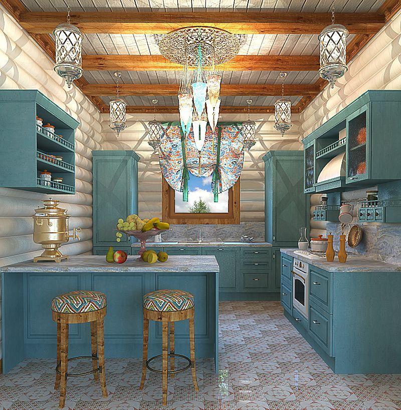 дизайн кухни в деревянном доме дизайн деревянного дома Kitchen