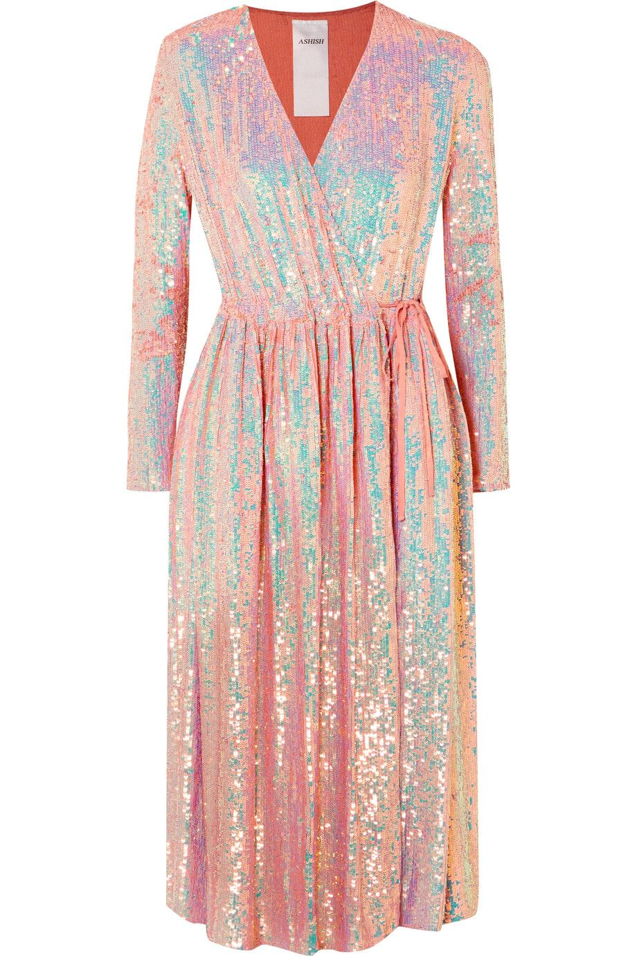 Ashish sequined silkgeorgette wrap dress my style pinterest